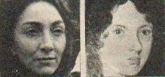 Rosemary McHale (l) and Emily Brontë (r)