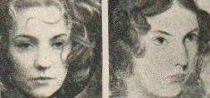 Ann Penfold (l) and Anne Brontë (r)