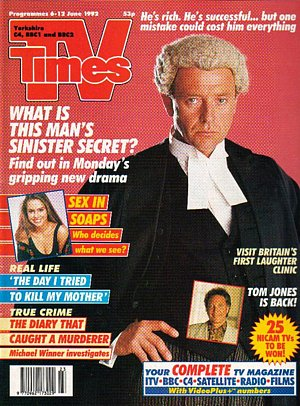 TV Times cover, 1992