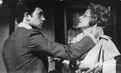 Michael Kitchen as Howard Needham and Suzanne Bertish as his secretary Cathy in Sparrowfall. Plays and Players, September 1976. Photograph: Vijay